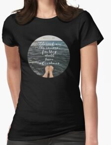 Blessed are the Curious Womens Fitted T-Shirt
