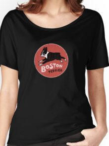 Boston Terrier Retro Style Women's Relaxed Fit T-Shirt