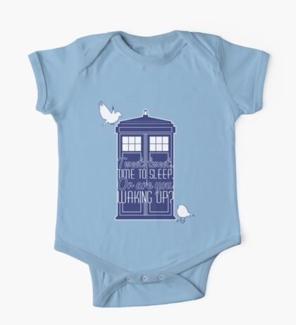 "Doctor Who - ""Tweet, Tweet. Time To Sleep."" One Piece - Short Sleeve"
