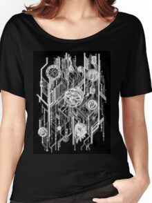 Zen Doodle 6 Circuit Black White Glow Women's Relaxed Fit T-Shirt