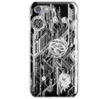 Zen Doodle 6 Circuit Black White Glow iPhone Case/Skin