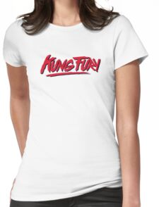 Kung Fury Logo Only Womens Fitted T-Shirt