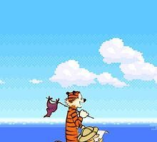 Calvin and Hobbes 16 Bit by Jasonschwarts