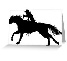 Rodeo Theme - Barrel Racer Silhouette Greeting Card