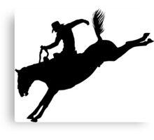 Rodeo Theme - Bucking Bronc Silhouette Canvas Print