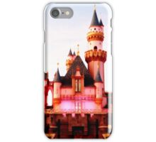 Pink Castle Illustration iPhone Case/Skin