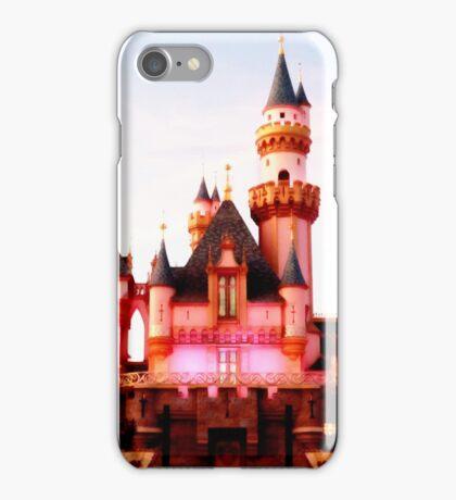 Pink Castle Illustration iPhone Case/Skin