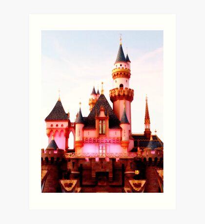 Pink Castle Illustration Art Print