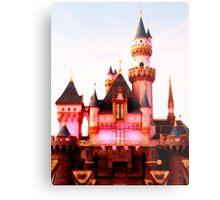 Pink Castle Illustration Metal Print