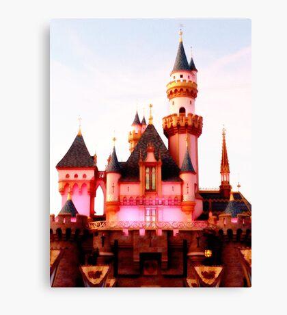 Pink Castle Illustration Canvas Print