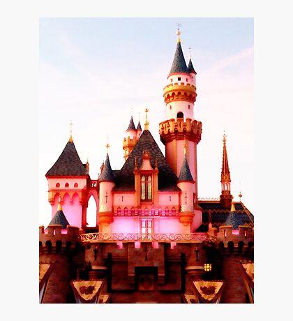 Pink Castle Illustration Photographic Print