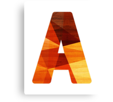 Initial Letter A Canvas Print