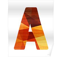 Initial Letter A Poster