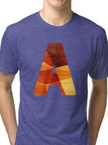 Initial Letter A Tri-blend T-Shirt
