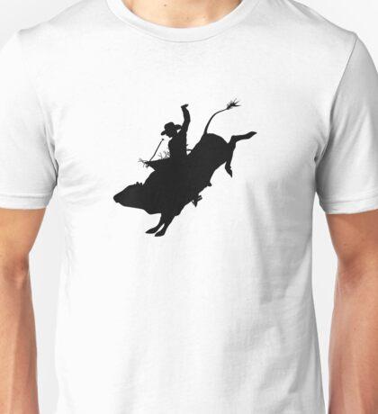 Rodeo Theme - Bucking Bull Silhouette Unisex T-Shirt