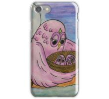 Mother Owl and her Babies iPhone Case/Skin