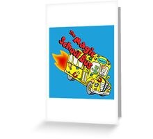 magic school bus Greeting Card