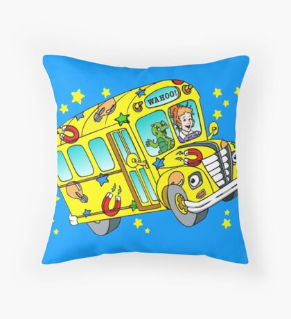 magic school bus Throw Pillow