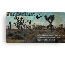 Wanderlust Travel Quote Collection Canvas Print
