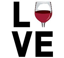 Cool 'Love' Wine Glass Icon Accessories Photographic Print