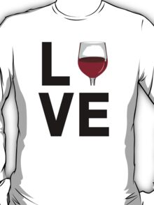 Cool 'Love' Wine Glass Icon Accessories T-Shirt