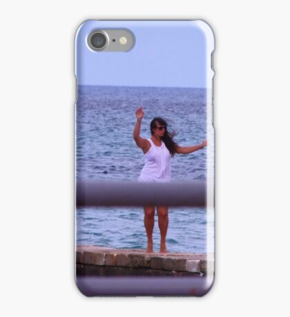 Pose on the sea iPhone Case/Skin