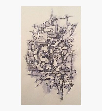 Abstract Pen and Ink Photographic Print