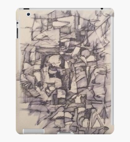 Abstract Pen and Ink iPad Case/Skin
