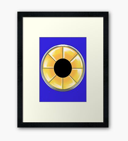 Metal Sonic Turbine Framed Print