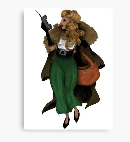 Early 90s Power Woman Canvas Print