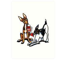 Rat Terrier Sweethearts Art Print