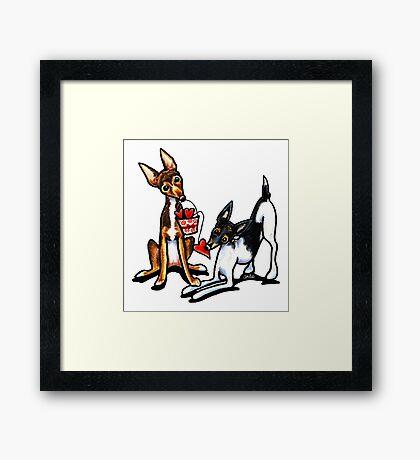 Rat Terrier Sweethearts Framed Print
