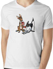 Rat Terrier Sweethearts Mens V-Neck T-Shirt