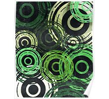 Concentric Intensity - Green Poster