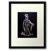 Elisabeth I of Tudor the virgin queen. Framed Print