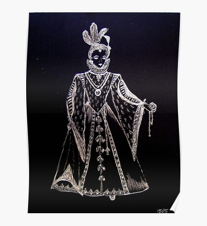 Elisabeth I of Tudor the virgin queen. Poster