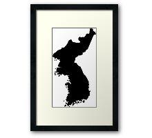 Map of Korea Framed Print
