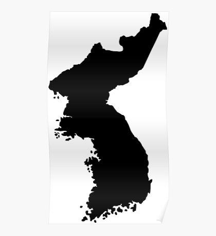 Map of Korea Poster
