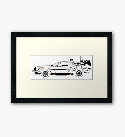 Delorean DMC Back to the Future Framed Print