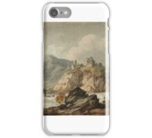 Joseph Mallord William Turner    Landscape Composition with a Ruined Castle on a Cliff iPhone Case/Skin