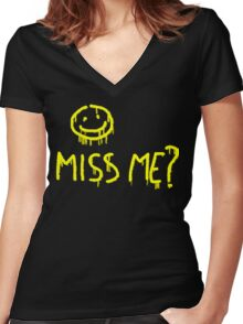 Miss me? Women's Fitted V-Neck T-Shirt