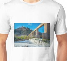 Weir on the Vinalopó river by the Monastery of Santa María Magdalena Unisex T-Shirt