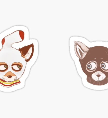 Ash and Kristofferson (Mask) Sticker