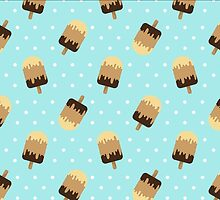 Ice Cream and dots pattern by ev1lcat