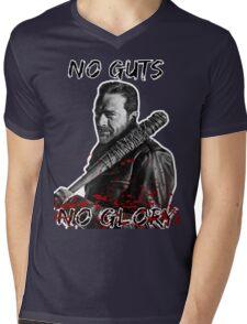 The Walking Dead Negan - No Guts No Glory Mens V-Neck T-Shirt