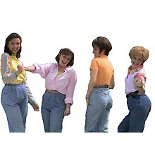 mom jeans sketch Photographic Print