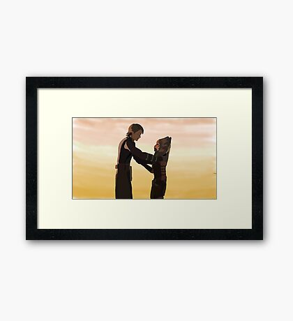 Anakin and Ahsoka Framed Print