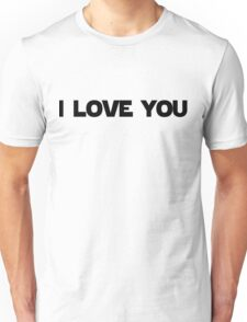 I Love You (I Know) Star Wars Couple Print Unisex T-Shirt