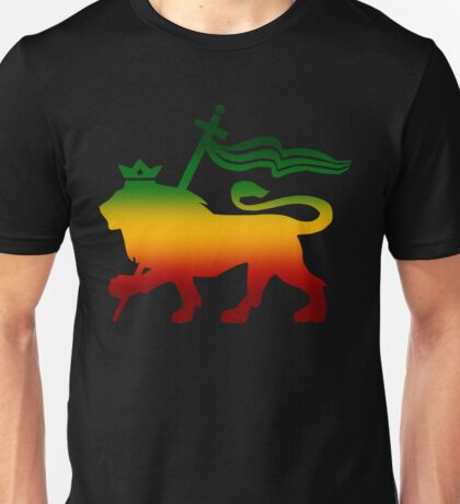 Lion of Judah Rasta Reggae Roots Jamaica King Flag Unisex T-Shirt