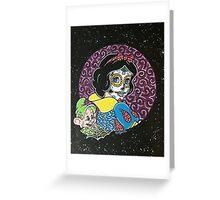 Sugar Skull Snow White 2 Greeting Card